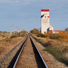 Grain Elevator (Gerry Marchand) Tags: grain elevator englefeld saskatchewan canada railway tracks fall autumn
