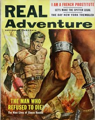 Real Adventure Vol. 8, No. 5 (September 1957). Uncredited Cover Art (lhboudreau) Tags: pulpadventuremagazine magazine magazines mensadventuremagazine mensadventuremagazines adventuremagazine adventuremagazines pulpmagazine pulpmagazines mensmagazine mensmagazines action adventure actionmagazines actionmagazine pulpfiction pulpart coverart magazineart pulpcover magazinecover paintedcover fire ax axe knife weapons weapon manwhorefusedtodie bondage torture naiveamerican americanindian nativeamericanbondage realadventure volume8number5 1957 september1957 wildwest americanwest indian indians