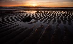 Sunrise at the beach (PeskyMesky) Tags: aberdeen aberdeenbeach sunrise sunset sand beach water sea ocean rock landscape scotland sky canon canon5d eos