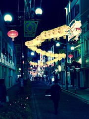 China Town (hamapenguin) Tags: japan kanagawa yokohama chinatown 横浜 中華街 night apple iphone 春節 旧正月