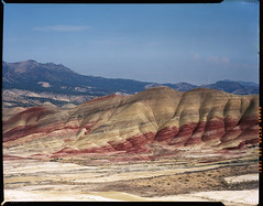 painted hills on 4x5 film (Garrett Meyers) Tags: graflexseriesd4x5 largeformat 4x5film graflex painted hills paintedhills oregon color colorfilm 4x5 c41 film filmphotographer kodakektar kodak kodakektar100 ektar100 garrettmeyers garrett meyers graflexphotographer layers