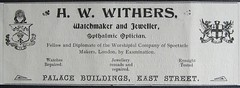 HW Withers - Rockhampton, Qld - 1907 (Aussie~mobs) Tags: 1907 vintage queensland australia rockhampton annualpublication printed advertisement hwwithers watchmaker jeweller optician