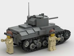M4 sherman back (SirLuftwaffles) Tags: ww2 tank sherman lego luftwaffles luftwaffle m4