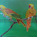 """""""Two Parrots"""" by Taleeah, acrylic, $20.00"""