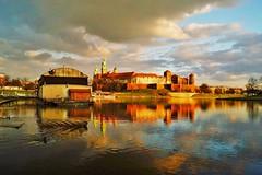 Wawel castle (Eziah photography) Tags: castle wawel krakow poland river sky clouds light colors travel city citytrip history reflection wawelcastle winter afternoon discover