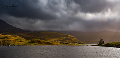 Awesome weather at Loch Assynt (cliffwilliams449) Tags: landscape oct2017 scotland ardvreckcastle lochassynt rain clouds moody darksky atmosphere drama castle photograph cliffwilliams