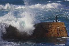 3KA11670a_C (Kernowfile) Tags: pentax cornwall cornish cornishharbours wave water breakingwaves harbour breakwater sea sennencove sennen