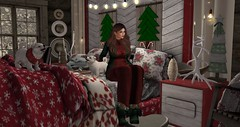 cozy Christmas cabin (nicandralaval1) Tags: unkindness fameshed una epiphany besom kawaiiwhore buildersbox 7deadlys{k}ins gacha lelutka maitreya secondlife fashion secondlifefashion gift freebies schultzbros dahlia spidersdesign goose boardwalk sahidesign theloftaria theloft sways advent adventcalendar silveryk jian lovetodecorate decor decorate