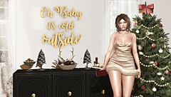 Oh Baby It's Cold Outside (Chelsea Chaplynski ( Amity77 inworld)) Tags: dahlia arcade event access dress decor blog holiday glam group gift decorative half deer moon elixir limerence hair starlight designs chelsea christmas tree secondlife sl avatar pose