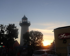 008 Sunset Behind The Lighthouse (saschmitz_earthlink_net) Tags: 2018 california marinadelrey boat parade marinadelreyboatparade christmasparty suez