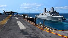 180319-N-RI884-0047 (Jay.veeder) Tags: ussgreenbay usswasp sailors marines meu japan f35b usswasplhd1 okinawa jpn