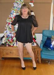 Short Black (Trixy Deans) Tags: crossdresser cute cd crossdressing classy cocktaildress classic corset crossdreeser xdresser sexy sexyheels sexytransvestite sexylegs shemale shortdress frilly frills hot heels highheels legs