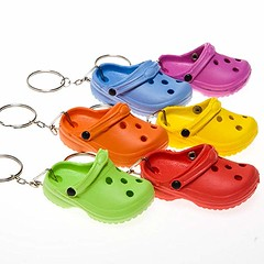 Multi Colour Rubber Clog Key Chains (mywowstuff) Tags: gifts gadgets cool family friends funny shopping men women kids home