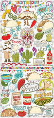 Taco Tuesday Vector Graphics Collection (Carrie Stephens) Tags: taco tacotuesday vectorart vector illustrator png graphics design graphicdesign creativemarket creatives clipart hotsauce food mexican birthdayparty birthday celebration cultural lime jalapeno sugarskull burrito ole party fiesta menu cactus delicious salsa nachos sour cream guacamole fishtaco photoshop lineart doodles