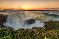 Three elements. (Through Bri`s Lens) Tags: cornwall harlynbay sunset sea seathrift waves swell power mothernature brianspicer canon5dmk3 canon1635f4 lee09softgrad