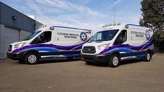 California ambulances (CasketCoach) Tags: ambulance ambulancia ambulanz ambulans rettungswagen krankenwagen paramedic ems emt emergencymedicalservice firefighter fordtransit