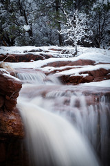 Sedona-5114-Edit (Michael-Wilson) Tags: sedona arizona winter cold snow river creek stream waterfall michaelwilson tree flow motion redrocks rain fog mist water