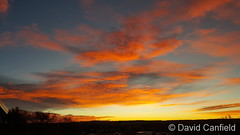 January 7, 2019 - A gorgeous sunrise as seen from Lafayette. (David Canfield)