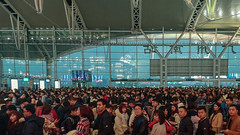Work Travel. The reality... (dagboshoots) Tags: china guangzhou train trainstation fasttrain crowd crowds chaos rail morning commute huawei p20 p20pro
