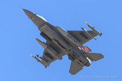 """General Dynamics F-16C Fighting Falcon of the 100th Fighter Squadron """"Red Tails"""" of the 187th Fighter Wing of the Alabama Air National Guard from Dannelly Field (Norman Graf) Tags: ordnance militaryexercise aircraft p5ctstcts airplane generaldynamics aim9 aim9l redflag172 usaf 100fs litening f16c alang missile aircombatmaneuverinstrument aim120 870332 aim120c nellisafb airnationalguard targetingpod aim f16 187fw cityofhuntsville redtails 100thfightersquadron 187thfighterwing acmi al amraam anaaq28 ang advancedmediumrangeairtoairmissile airinterceptmissile alabama alabamaairnationalguard combattrainingsystem dannellyfield fighter fightingfalcon jet plane sidewinder tacticalcombattrainingsystem unitedstatesairforce viper"""