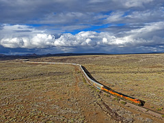 BNSF 7461 VKCKPHX3-11 13 Jan 19 (Ray C. Lewis) Tags: bnsf burlingtonnorthernsantafe drone photography clouds stormlight storm train railroad railfans aerial arizona