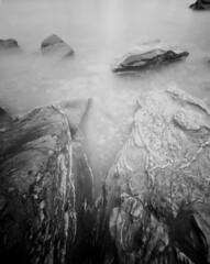 (kristian k lehne) Tags: pinhole longexposure largeformat bwfp rodinal tromsø analog fjæra oldervika kristianlehnefoto film filmphotography fomapan seascape 4x5 bw negativescan monochrome