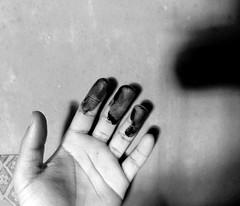 Neo-noir and the crime of paint (Neo-noir) Tags: absoluteblackandwhite noir negro paint art mono hand poetry life black