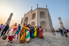 Taj Mahal in super-wide angle (Catherine Gidzinska and Simon Gidzinski) Tags: 2018 agra december india tajmahal gidzinska gidzinski grainconnoisseur pilgrims women uttarpradesh in wideangle traveling people travellocation travel unusual