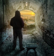 decisions... stay, or go? RS 2471- (P.E.T. shots) Tags: prison freedom decision ponder thinking light darkness self easterstatepenitentiary