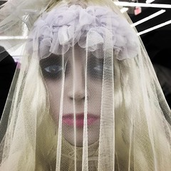 White Veiled Woman (booboo_babies) Tags: woman diadelosmuertos dayofthedead white veil halloween