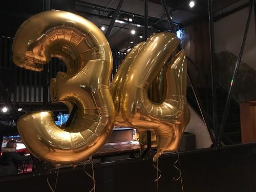 Folieballon Cijfer 34 Cafe in the City Rotterdam