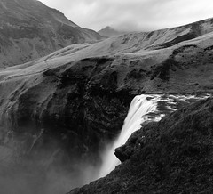 Above Skógafoss (marcusholmqvist) Tags: red waterfall cascade island iceland travel bnw landscape