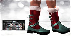 *OA-MEO* =Cozy-Boots= _002 (Mondi Beaumont) Tags: sl secondlife clothes clothing shoes boots winter cozy warm hud colors woman women lara maitreya snow ice dressing oameo event suicide dollz shopping