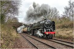 70013. 'The South Yorkshireman'. (Alan Burkwood) Tags: gcr loughborough a6 br 7p britannia 70013 olivercromwell steam locomotive passenger train