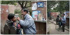 Streetlife in Agra, India (Iam Marjon Bleeker) Tags: india agra dailylife dailylifeinagra barber streetphotography streetlife streetview inthestreet dag9barbercollage