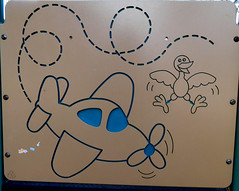 Playground Art (earthdog) Tags: 2017 nikoncoolpixs7000 nikon coolpix s7000 art playground sanjose animal bird plane airplane