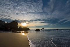 Nice Night for Fishin' (Chris DeNamur) Tags: beach blue clouds end fish fishermen fishing foam francisco lands lobos ocean pacific rock san sky sunset wave sanfrancisco california unitedstates us