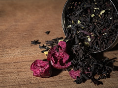 Tea (donnicky) Tags: brew macromondays closeup dried drink highangleview kitchen kitchenware macro publicsec stilllife studioshot tea wooden d850
