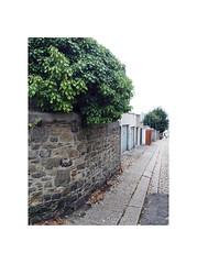 back lane (chrisinplymouth) Tags: backlane hill garage garagedoor wall corner moricetown plymouth devon england uk city cw69x devonport stone desx diagx xg diagonal