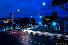The Streets Of Laguna - Night Lights_6036 (www.karltonhuberphotography.com) Tags: 2018 bluehour cartrails citystreets clouds hwy1 headlights horizontalimage karltonhuber laguna lagunabeach light morninglight motion nightlights nightphotography pch pacificcoasthighway signs southcounty southerncalifornia storefronts streetlights streetphotography streetscene taillights trafficlights