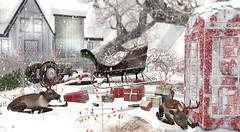 Running late (Alexa Maravilla/Spunknbrains) Tags: drd sl secondlife thearcade madras mutresse brocante thor studioskye heart eclipse snow christmas reindeer santa magical outdoors winter