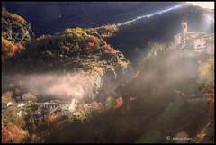 Lantosque se dévoile # 3 (Tonino A) Tags: village brouillard lantosque vallée colline clocher église arrièrepays automne alpes maritimes greatphotographers