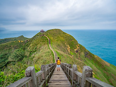 Bitou Cape, Taiwan (TeunJanssen) Tags: cape view scenery trail hike hiking taiwan bitou coast coastline ocean hills hill clouds cloudy topodesigns olympus omd omdem10 backpacking asia travel traveling worldtravel