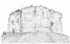 Cliffords Tower, York: A closer view