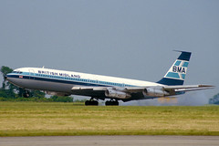 G-BFLD-1-EGNX-1983 (Alpha Mike Aviation Photography) Tags: eastmidlands airport ema egnx britishmidland airways bma bd boeing 707 300 b703 gbfld