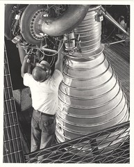 a_v_bw_o_n (original 1959 Rocketdyne-NAA publicity photo, no. ENG 324) (apollo_4ever) Tags: rocketnozzle thrustchamber abma armyballisticmissileagency advancedresearchprojectsagency arpa humanspaceflight mannedspaceflight unmannedrocket flighttest spacerace hardhat coldwar h1engine h1rocketengine sibstage sistage boosterrocket boosterstage firststage saturnc1 saturnc1rocket saturn1b saturn1brocket saturnib saturni saturnibrocket saturnirocket saturnrocket projectapollo apolloprogram saturnprogram apollospaceprogram rocketengine rocketpropulsion naa northamericanaviation rocketdyne blackandwhite glossyphoto