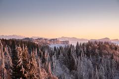La croix du nivolet (Nicomonaco73) Tags: la feclaz savoie 73 france alps snow winter snowy sunset clouds beautiful landscape nikon d750