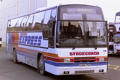 STAGECOACH WESTERN SCOTTISH 135 G386PNV (bobbyblack51) Tags: stagecoach western scottish 135 g386pnv volvo b10m60 plaxton paramount 3500 ayr bus station 1996