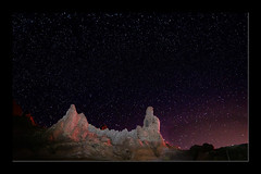 Night in Teide caldera (Peter Warne-Epping Forest) Tags: mountteide tenerife nightphotography stars lightpainting lava longexposures nightsky night