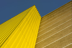 Lines and lines (Jan van der Wolf) Tags: map185339v lines interplayoflines playoflines lijnen lijnenspel gevel gebouw geometric geel geometry geometrisch geometrie facade architecture architectuur perspective perspectief